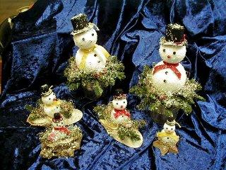 Bastelidee - Schneemänner zur Deko am Hauseingang