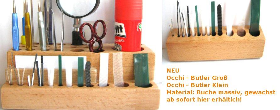 Occhi-Butler für alle Utensilien, die man für Occhi braucht!