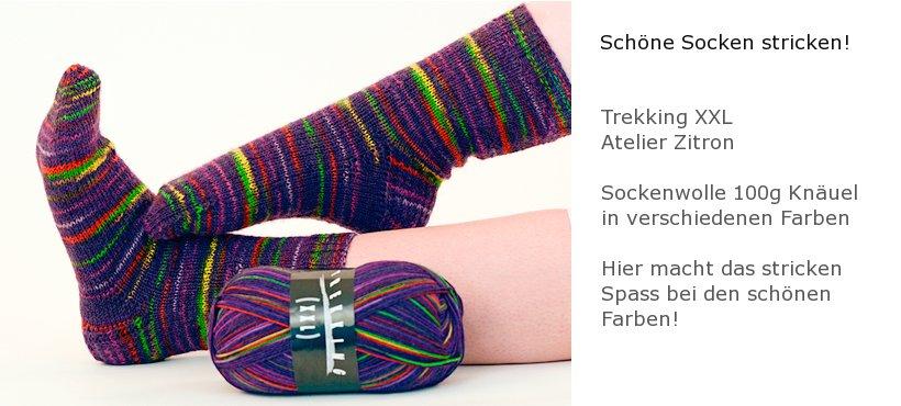 Socken stricken mit Atelier Zitrone Wolle