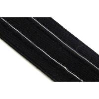 Gummi 25mm mit Haftbeschichtung schwarz