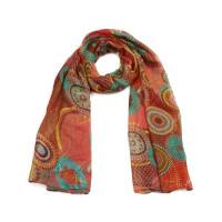 Langer Schal mit Kaleidoskop-Muster