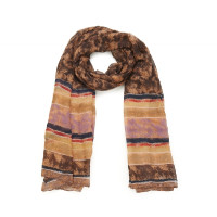 Langer Schal mit getreiftem Muster