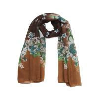Langer Blumen-Schal