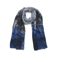Langer Schal mit foto-artigem Baum-Muster
