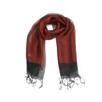 Langer Schal mit Fransen; festlich
