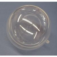 Plastik Kugel 2 tlg. 14 cm, glasklar