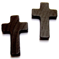 Holzkreuz lackiert 35x21x5 mm  Stck. braun