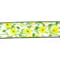 Drahtb. Blumen grün/gelb 40 mm