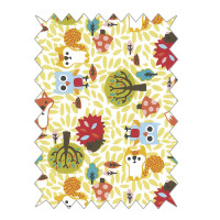 BW-Stoffe Easy going 100x65cm Waldtiere