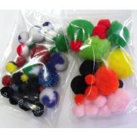 Pompon-Mix bunt SB-Beutel ca. 12-15 gr