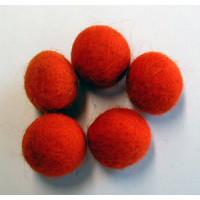 Filzkugel 20mm für Schmuckgestaltung orange