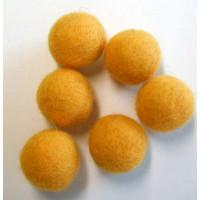 Filzkugel 20mm für Schmuckgestaltung gelb