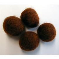 Filzkugel 20mm für Schmuckgestaltung rostbraun