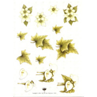 Efeu,Blüten, Calla,, 3D Bogen Le Suh A4,