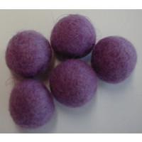 Filzkugel 20mm für Schmuckgestaltung violett