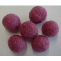 Filzkugel 20mm für Schmuckgestaltung dkl.rosa