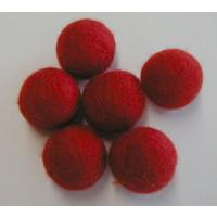 Filzkugel 20mm für Schmuckgestaltung rot