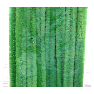 Chenilledraht 9 mm/50 cm gruen