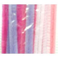 Chenilledraht 9 mm/30 cm rose sort.