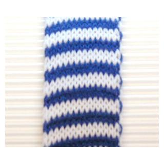 Strickschlauch 3,0 cm blau/weiss gestreift