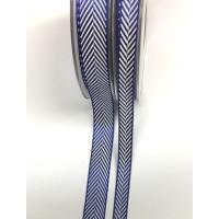 Fischgratband blau/weiss br. 10 mm