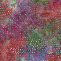 Batik Patchworkstoffe Dots Multi Orange 0.89