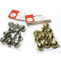 Metallglöckchen kugelförmig 19 mm