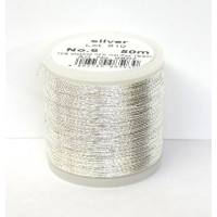 Maderia Metallicgarn  Nr. 6/50 m silber