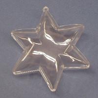 Plastik Stern 2 tlg. 10 cm