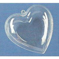 Plastik Herz 2 tlg. 8 cm, glasklar