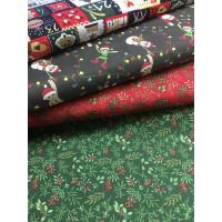 Weihnachten Baumwolldruck