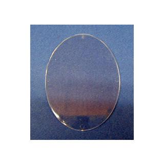 Plastik Malscheibe transparent 8x11 cm oval