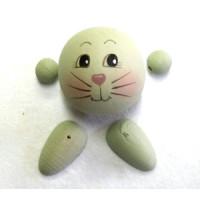 Figurenkopf  Katze  ca. 4x4 cm