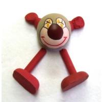 Figurenkopf Clown  ca. 2,5x2,5 cm