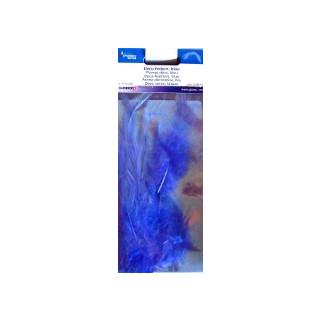 Deko - Federn blau ca. 15 Stück