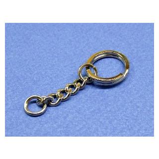 Schlüsselring 25 mm platin  mit Kette