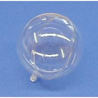 Plastik Kugel 2 tlg. 8 cm, glasklar