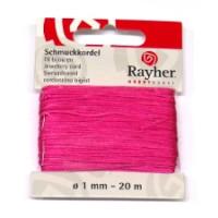 Schmuckkordel, ø 1 mm, SB-Karte 20 m, pink