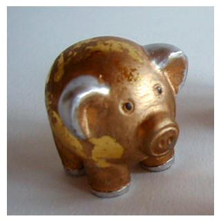 Deko Glücksschweinchen in gold ca. 4x4cm