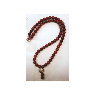 Halskette  Schaumkoralle m. Anhänger Schnecke 46 cm lang