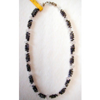 Halskette Rosenquarz  zweireihig sowie Mix 42 cm lang