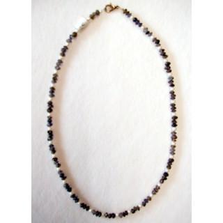 Halskette Amethyst u. Süsswasserperle 44 cm lang