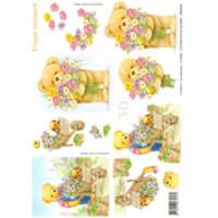 3D Bogen Le Suh A4, Teddy mit Bluem