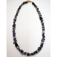 Halskette Sodalit u. Bergkristall  46 cm lang