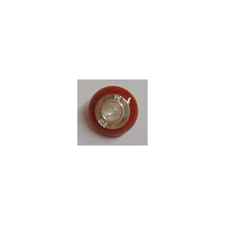 Bead Karneol (Achat gefärbt), ø ca. 15 mm, 1  Stck.