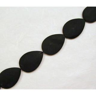 Onyx Tropfen oval  35x25 mm Stück