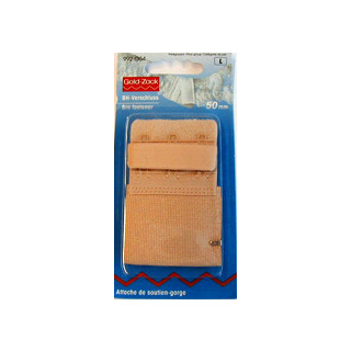 BH-Verschluss 50mm Hautfarben Gold-Zack