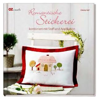 Romantische Stickerei komb. mit Stoff und Applik.