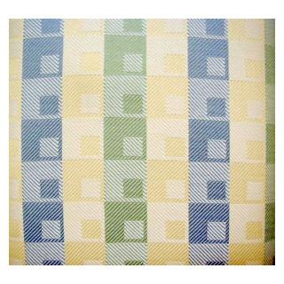 Tischwaesche Elba 170cm breit karo blau, gelb, gruen