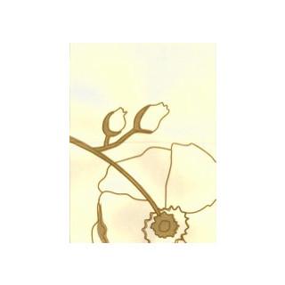 Karte B6, Japan-Seide Wild Rose creme/weiss SB